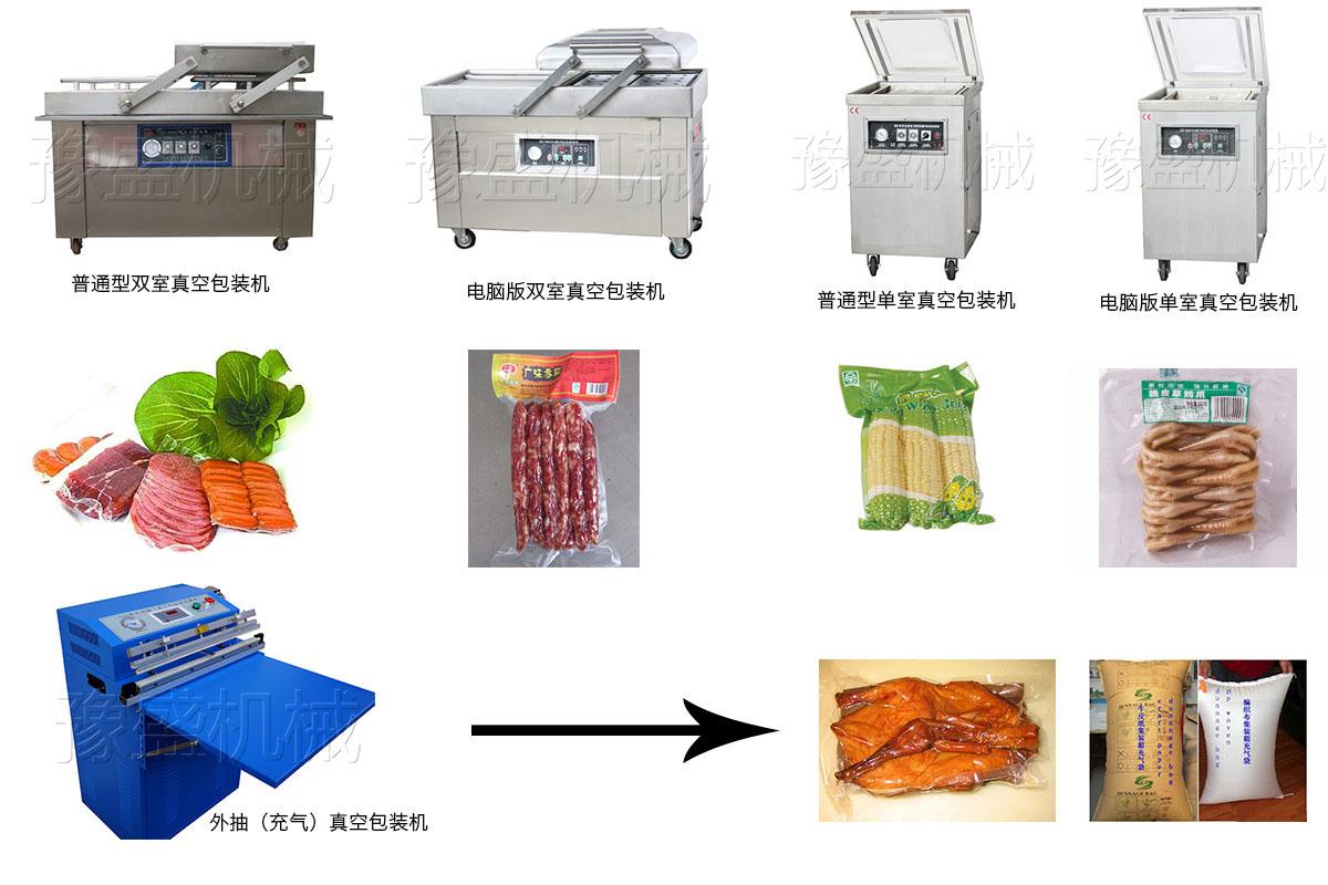 真空包装机工作流程图
