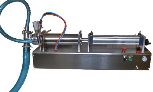 供应卧式气动大剂量液体灌装机