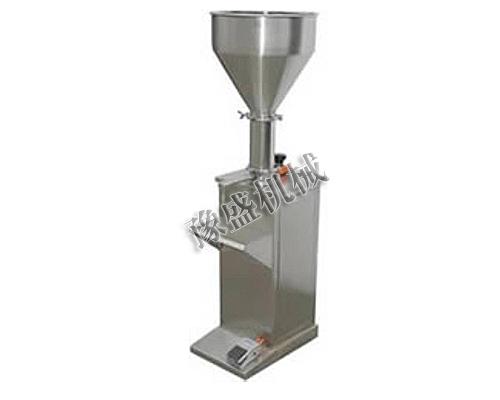 供应高粘稠半自动膏体灌装机